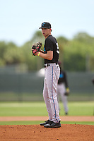 Miami Marlins pitcher MD Johnson (39) during a Minor League Spring Training camp day on April 27, 2021 at Roger Dean Chevrolet Stadium Complex in Jupiter, Fla.  (Mike Janes/Four Seam Images)