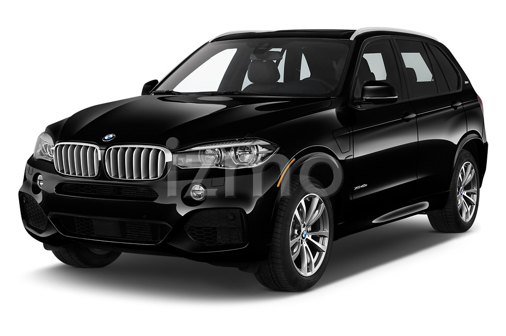 2018 BMW X5 xDrive40e 4WD 5 Door SUV angular front stock photos of front three quarter view