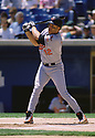 CIRCA 1997: Roberto Alomar #12 of the Baltimore Orioles at bat  during a game from his 1997 season agaisnt the Chicago White Sox. Roberto Alomar played 17 seasons, with 7 different teams, was a 12-time All-Star and inducted to the Baseball Hall of Fame in 2011.  (Photo by: 1997 SportPics)  *** Local Caption *** Roberto Alomar
