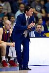 FC Barcelona's coach Xavi Pascual during Liga Endesa ACB 2013-2014 match against Gipuzkoa Basket Club. November 3, 2013. (ALTERPHOTOS/Alex Caparros)