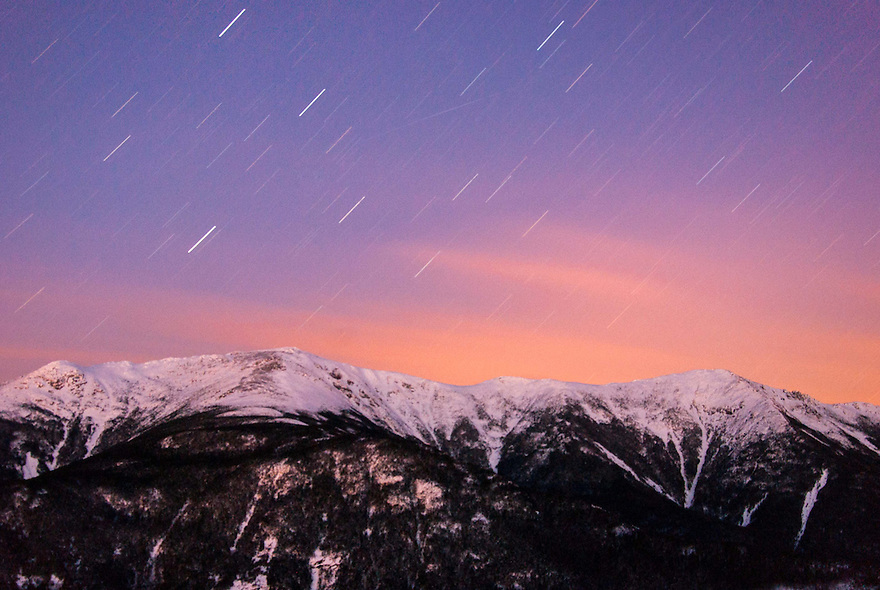 This image is the result of spending a freezing night on the edge of the upper cliffs on Cannon Mountain.