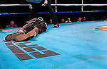 Roberto Carlos is unconscious on the canvas after being knocked down by Demetrius Hopkins during their Welterweight Fight at the Fernwood Resort in Bushkill Pennsylvania on October 24, 2003.&#xA;Hopkins won by a 5th round KO<br />