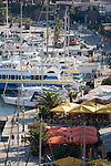 Calvi yacht harbor; Calvi, Northwest coast of Corsica, France, Mediterranean Coast, Coastal towns in Corsica,