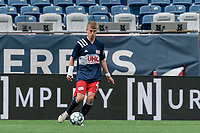 FOXBOROUGH, MA - MAY 12: Sean O'Hearn #40 of New England Revolution II passes the ball during a game between Union Omaha and New England Revolution II at Gillette Stadium on May 12, 2021 in Foxborough, Massachusetts.