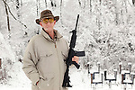 Longtime gun journalist Dick Metcalf was fired from Guns and Ammo magazine after he wrote a column saying that the Second Amendment supports gun regulation. He is shown at Pike Adams Sportsmen's Alliance Park, a shooting range he co-founded on his family's farm outside of Barry, Ill.Kristen Schmid for The New York Times