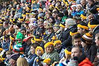 Photo: Ian Smith/Richard Lane Photography. Wasps v Bath Rugby. Aviva Premiership. 24/12/2016. Wasps' fans during the match.