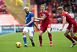 Aberdeen v St Johnstone…18.09.21  Pittodrie    SPFL<br />Shaun Rooney and Lewis Ferguson<br />Picture by Graeme Hart.<br />Copyright Perthshire Picture Agency<br />Tel: 01738 623350  Mobile: 07990 594431