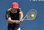 August 15,2019:   Alex de Minaur (AUS) loses to Yoshihito Nishioka (JPN) 7-5, 6-4, at the Western & Southern Open being played at Lindner Family Tennis Center in Mason, Ohio.  ©Leslie Billman/Tennisclix/CSM