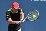 August 15,2019:   Alex de Minaur (AUS) loses to Yoshihito Nishioka (JPN) 7-5, 6-4, at the Western & Southern Open being played at Lindner Family Tennis Center in Mason, Ohio.  ©Leslie Billman/Tennisclix/CSM