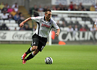 ATTENTION SPORTS PICTURE DESK<br /> Pictured: Stephen Dobbie of Swansea City in action <br /> Re: Coca Cola Championship, Swansea City Football Club v Reading at the Liberty Stadium, Swansea, south Wales. Tuesday 18 August 2009<br /> Picture by D Legakis Photography / Athena Picture Agency, 24 Belgrave Court, Swansea, SA1 4PY, 07815441513