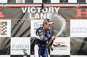 Takuma Sato, Rahal Letterman Lanigan Racing Honda, podium, champagne