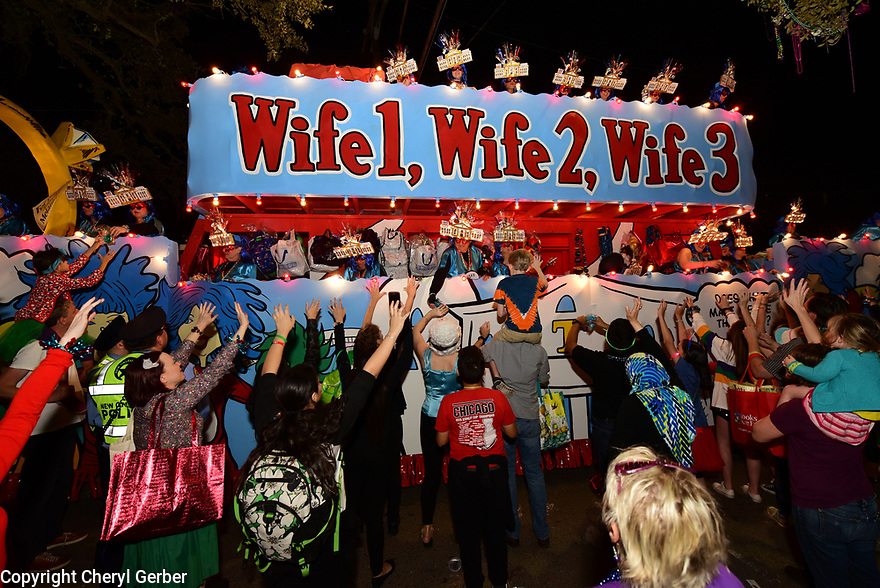 The Muses parade rolls in New Orleans on Thursday, Feb. 23, 2017. (AFP/CHERYL GERBER)