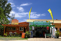 The Hana highway surf shop located in the small town of Paia, a popular stop for many surfers and water sports enthusiasts.