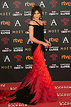 Nieves Alvarez attends 30th Goya Awards red carpet in Madrid, Spain. February 06, 2016. (ALTERPHOTOS/Victor Blanco)