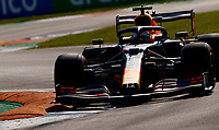 4th September 2020; Autodromo Nazionale Monza, Monza, Italy ; Formula 1 Grand Prix of Italy, free practise sessions;  33 Max Verstappen NLD, Aston Martin Red Bull Racing over the curbs