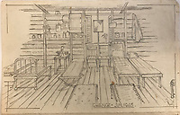 BNPS.co.uk (01202) 558833<br /> Pic: Tennants/BNPS<br /> <br /> Drawing of the prison<br /> <br /> A British prisoner of war's drawings and photographs of the building of the notorious 'Death Railway' in Burma have sold for £5,000.<br /> <br /> Captain Harry Witheford's accomplished sketches highlight the horrific ordeal endured by the captured soldiers at the hands of their Japanese captors in World War Two.<br /> <br /> The so-called Death Railway along the River Kwai claimed the lives of 12,000 Allied PoWs who were subjected to forced labour during its construction.