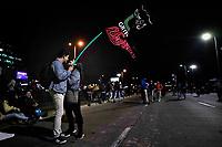 BOGOTA - COLOMBIA, 25-11-2019: Miles de manifestantes salieron a las calles de Bogotá para unirse a la quinta jornada de paro Nacional en Colombia hoy, 25 de noviembre de 2019. La jornada Nacional es convocada para rechazar el mal gobierno y las decisiones que vulneran los derechos de los Colombianos. / Thousands of protesters took to the streets of Bogota to join the fifth National Strike day in Colombia today, November 25, 2019. The National Strike is convened to reject bad government and decisions that violate the rights of Colombians. Photo: VizzorImage / Diego Cuevas / Cont