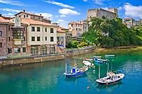 boats, San Vicente de la Barquera, Cantabria, Spain.