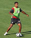 Atletico de Madrid's Cleber Santana during training sesion. August 05 2009. (ALTERPHOTOS/Acero).