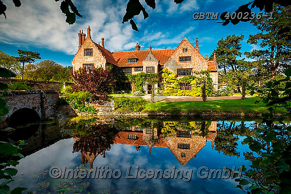 Tom Mackie, LANDSCAPES, LANDSCHAFTEN, PAISAJES, photos,+16th century, Britain, British, East Anglia, England, English, Europe, Hindringham, Hindringham Hall, Norfolk, Tom Mackie, UK+, heritage, historic, history, horizontal, horizontals, manor house, medieval, mirror image, moat, reflecting, reflection, re+flections, stately home, tudor, ukgallery, water,16th century, Britain, British, East Anglia, England, English, Europe, Hindr+ingham, Hindringham Hall, Norfolk, Tom Mackie, UK, heritage, historic, history, horizontal, horizontals, manor house, medieva+,GBTM400236-1,#l#, EVERYDAY