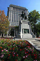 September 2012 - Montreal, Quebec , Canada -<br /> Sun Life building at Dominion Square