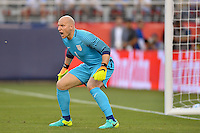 Santa Clara, CA - Friday June 03, 2016: United States goalkeeper Brad Guzan (1) during a Copa America Centenario Group A match between United States (USA) and Colombia (COL) at Levi's Stadium.