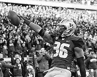 Azeem Victor celebrates a touchdown.