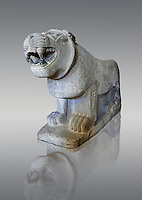 Lion sculptures from the city gate of  Sam'al - Zincirli. Neo Syro Hittite. Basalt 8th century BC. Pergamon Museum Berlin.