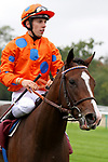 October 01, 2017, Chantilly, FRANCE - Zonza with up Cristian Demuro at the Total Prix Marcel Boussac (Gr. I) at  Chantilly Race Course  [Copyright (c) Sandra Scherning/Eclipse Sportswire)]