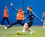 03.05.2019 Rangers training: James Tavernier and Nikola Katic