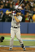 March 8, 2009:  Left fielder Ryan Braun (18) of Team USA during the first round of the World Baseball Classic at the Rogers Centre in Toronto, Ontario, Canada.  Team USA defeated Venezuela  15-6 to secure a spot in the second round of the tournament.  Photo by:  Mike Janes/Four Seam Images