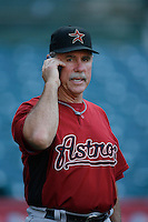 Houston Astros Manager Phil Garner before a game from the 2007 season at Angel Stadium in Anaheim, California. (Larry Goren/Four Seam Images)