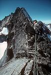 North Cascades National Park, Forbidden Peak, North Ridge, National Outdoor Leadership School, climbers, Cascade Mountains, Washington State, Pacific Northwest, U.S.A.,