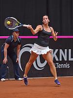 Netherlands, Den Bosch, April 18 2015 Maaspoort, Fedcup Netherlands-Australia,  Jarmila Gajdosova (AUS)<br /> Photo: Tennisimages/Henk Koster