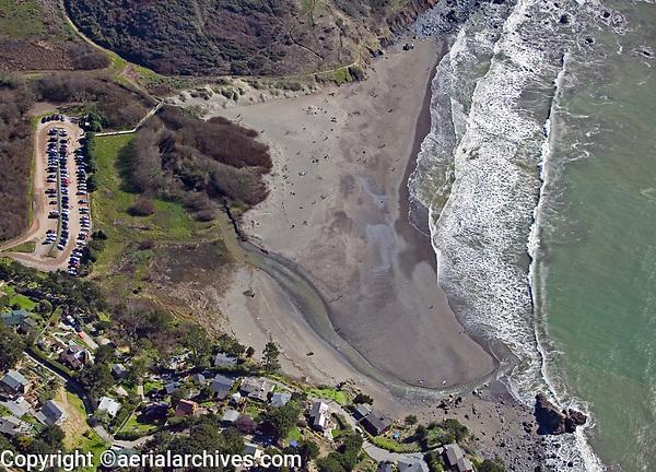 aerial photograph Muir Beach, Marin County, California