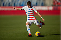 CARSON, CA - FEBRUARY 1: Sam Vines #13 of the United States of the United States sends a longball during a game between Costa Rica and USMNT at Dignity Health Sports Park on February 1, 2020 in Carson, California.