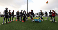 Pictured: Johnyy Northeast speaks to players Wednesday 23 December 2015<br />Re: Swansea City FC training ahead of their West Bromwich Albion game, Fairwood, near Swansea, Wales, UK