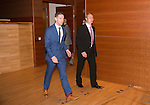 St Johnstone FC Hall of Fame Dinner, Perth Concert Hall….03.04.16<br />Steven MacLean escorts Hall of Fame Inductee Dougie Barron into the concert hall<br />Picture by Graeme Hart.<br />Copyright Perthshire Picture Agency<br />Tel: 01738 623350  Mobile: 07990 594431