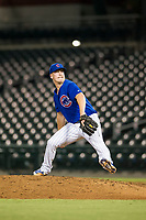 AZL Cubs relief pitcher Brendan King (55) delivers a pitch to the plate against the AZL Diamondbacks on August 11, 2017 at Sloan Park in Mesa, Arizona. AZL Cubs defeated the AZL Diamondbacks 7-3. (Zachary Lucy/Four Seam Images)