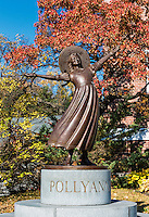 Pollyanna sculpture, Littleton, New Hampshire, USA.