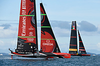 15th March 2021; Waitemata Harbour, Auckland, New Zealand;  Emirates Team New Zealand v Luna Rossa Prada Pirelli. Race 8, Day 5 of the America's Cup presented by Prada. Auckland, New Zealand