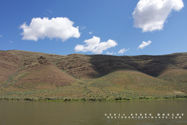 Clouds, shadows, and sage above the John Day River, Oregon.