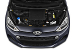 Car Stock 2019 Hyundai i10 Twist 5 Door Hatchback Engine  high angle detail view
