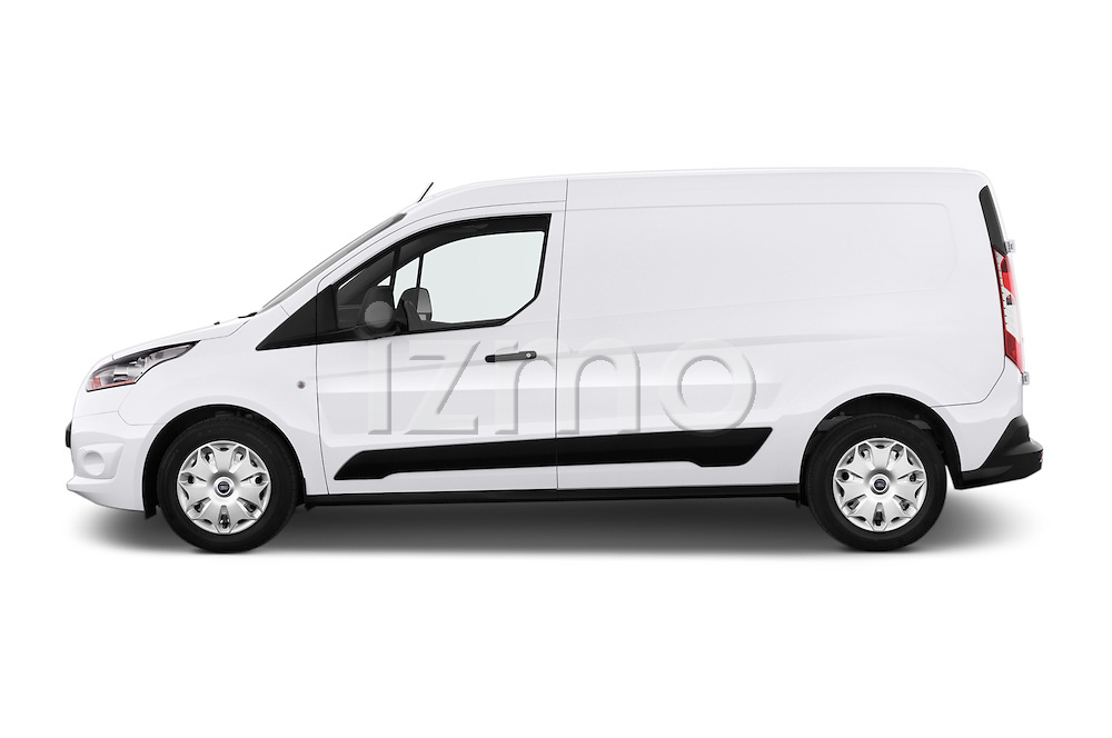 Car Driver side profile view of a 2015 Ford Transit Connect Trend 5 Door Minivan Side View