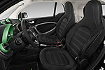 Front seat view of a 2018 Smart fortwo Greenflash 3 Door Hatchback front seat car photos