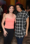 """Broadway debuts Katerina Papacostas and Diana Vaden during the Broadway Opening Night Actors' Equity Legacy Robe Ceremony honoring Jenifer Foote for """"Tootsie"""" at The Marquis Theatre on April 22, 2019  in New York City."""