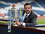 Former Rangers striker Nacho Novo at Hampden after making the draw for the tird round of the William Hill Scottish Cup
