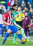 Neymar da Silva Santos Junior (r) of FC Barcelona fights for the ball with Jorge Resurreccion Merodio, Koke, of Atletico de Madrid during their La Liga match between Atletico de Madrid and FC Barcelona at the Santiago Bernabeu Stadium on 26 February 2017 in Madrid, Spain. Photo by Diego Gonzalez Souto / Power Sport Images