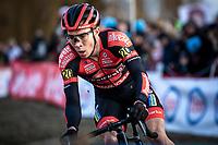 race leader and later race winner Laurens Sweeck (BEL/Pauwels Sauzen - Bingoal)<br /> <br /> Elite Men's Race <br /> Belgian National CX Championships<br /> Antwerp 2020