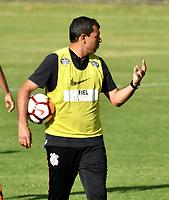 BOGOTA - COLOMBIA – 27 - 02 - 2018: Fabio Carille, tecnico de Corinthians (BRA), durante entreno previo al partido entre Millonarios (COL) y Corinthians (BRA), de la fase de grupos, grupo 7, fecha 1 de la Copa Conmebol Libertadores 2018, en el estadio El Campincito, de la ciudad de Bogota. / Fabio Carille, coach of Corinthians (BRA), during a traning sesión before a match between Millonarios (COL) and Corinthians (BRA), of the group stage, group 7, 1st date for the Conmebol Copa Libertadores 2018 in the El Campincito Stadium in Bogota city. VizzorImage / Luis Ramirez / Staff.